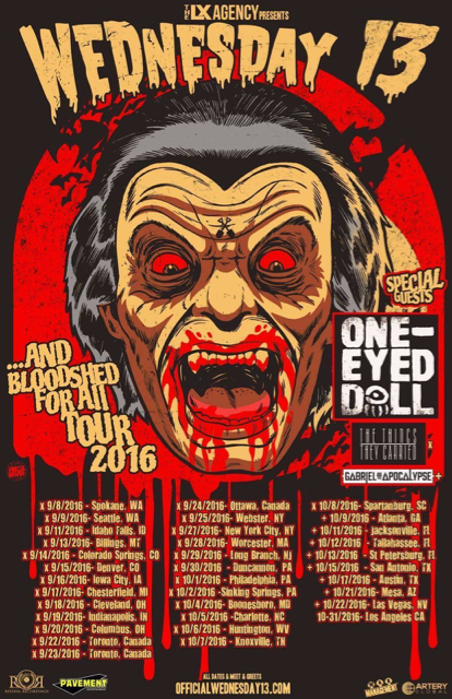 Wednesday 13 Announces Fall Tour Dates + New Album Details