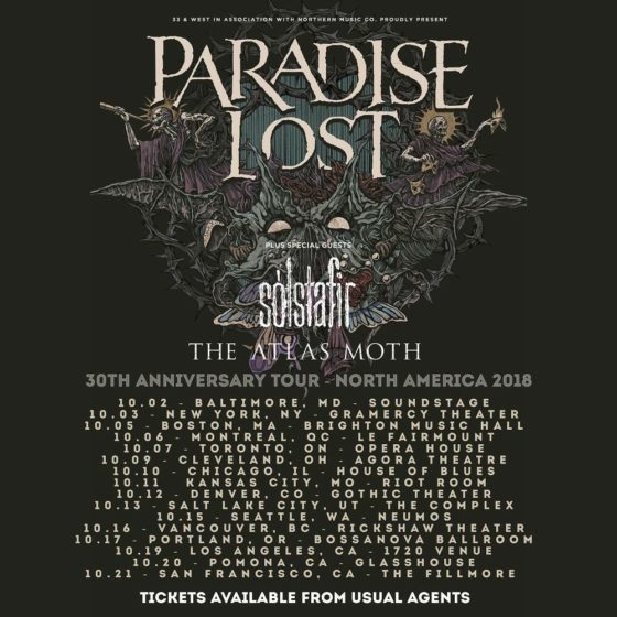 Paradise Lost Announce Fall US 30th Anniversary Tour