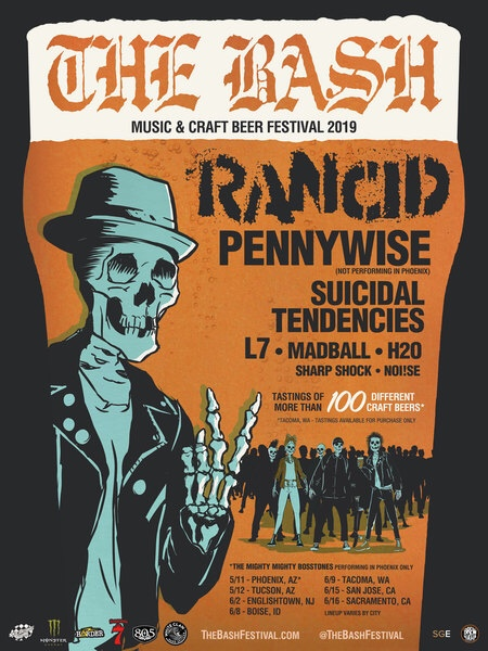 The Bash Music and Beer Festival w/Rancid, Pennywise, Suicidal Tendencies and more….