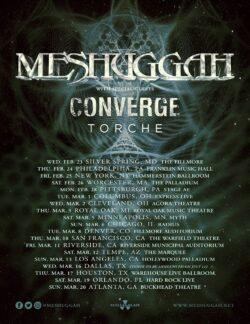 Mushuggah, Converge, Torche North American Tour 2022!